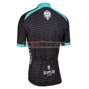 2016 Team BIANCHI MILANO Cycle Jersey Maillot Shirt Black Blue
