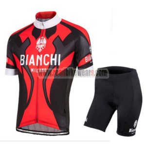 2016 Team BIANCHI MILANO Cycle Kit Red Black