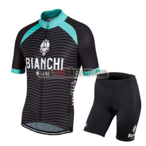 2016 Team BIANCHI MILANO Cycling Kit Black Blue