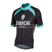 2016 Team BIANCHI MILANO Riding Jersey Maillot Shirt Black Blue