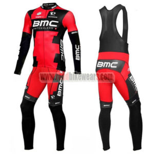 2016 Team BMC Bike Riding Long Bib Suit