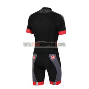2016 Team Castelli Short Sleeves Triathlon Cycle Wear Skinsuit Black