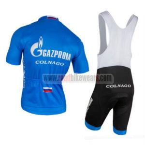 2016 Team GAZPROM COLNAGO Riding Bib Kit Blue