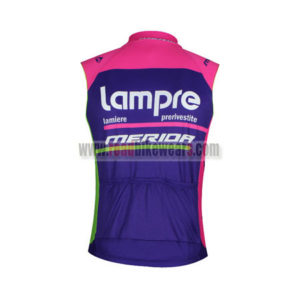 2016 Team Lampre MERIDA Cycle Sleeveless Vest Tank Top Blue