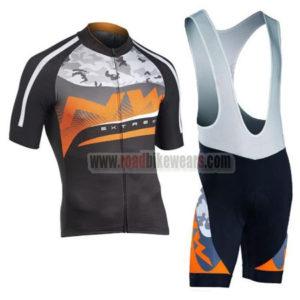 2016 Team NW Northwave Riding Apparel Bicycle Jersey and Padded Bib Shorts  Roupas Bicicleta Black Orange Grey 33b11c12f