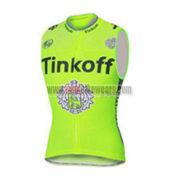2016 Team Tinkoff Riding Sleeveless Vest Tank Top Green