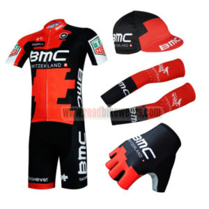 2017 Team BMC Cycling Combo Set Red Black 5-pieces