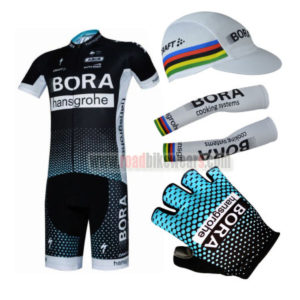 2017 Team BORA hansgrohe Bike Riding Apparel Set Cycle Jersey and Padded Bib  Shorts+Cap+Gloves+Arm Sleeves  8fc69a5c9