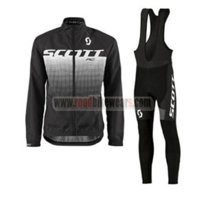 2017 Team SCOTT Cycling Long Bib Suit Black White