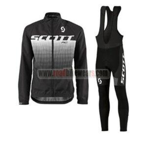 2017 Team SCOTT Cycling Long Bib Suit Black White ccf5128c5