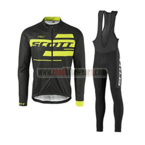 2017 Team SCOTT Riding Long Bib Suit Black Yellow