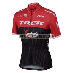 2017 Team TREK Segagredo Cycling Jersey Maillot Shirt Red Black