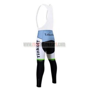 2017 Team Tinkoff Biking Long Bib Pants Tights Green