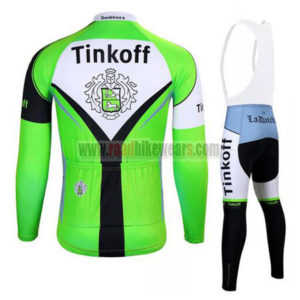 2017 Team Tinkoff Biking Long Bib Suit Green