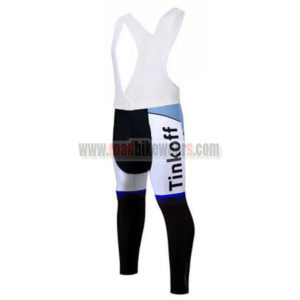 2017 Team Tinkoff Cycle Long Bib Pants Tights Blue b642e9d08