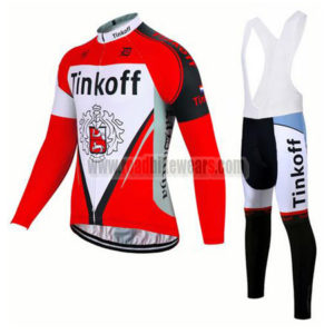2017 Team Tinkoff Cycling Long Bib Suit Red White