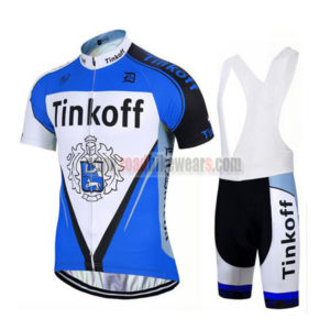 2017 Team Tinkoff Biking Wear Cycle Jersey and Padded Bib Shorts Roupas  Bicicleta Blue 0b803417f