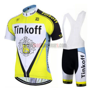 2017 Team Tinkoff Biking Wear Cycle Jersey and Padded Bib Shorts Roupas  Bicicleta Yellow 482b0d6d7