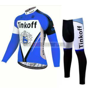 2017 Team Tinkoff Riding Long Suit Blue