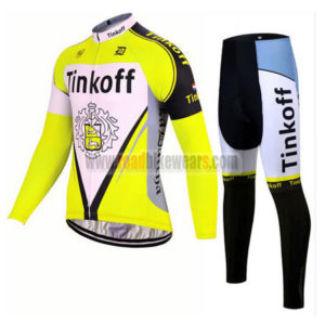 2017 Team Tinkoff Riding Long Suit Yellow