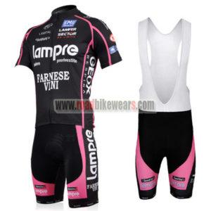 2011 Team Lampre FARNESE VINI Biking Uniform Cycle Jersey and Padded Bib  Shorts Roupas Bicicleta Black Pink c5f9660bf
