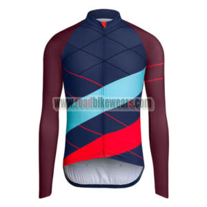 44593b99d 2015 Team Rapha Cycling Long Jersey Blue Red