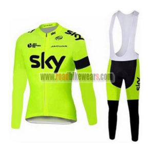 2015 Team SKY Cycling Long Bib Suit Yellow