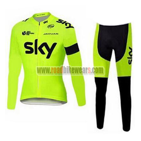 2015 Team SKY Riding Long Suit Yellow