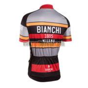 2016 Team BIANCHI 1885 MILANO Bicycle Jersey Maillot Shirt Grey Black Red