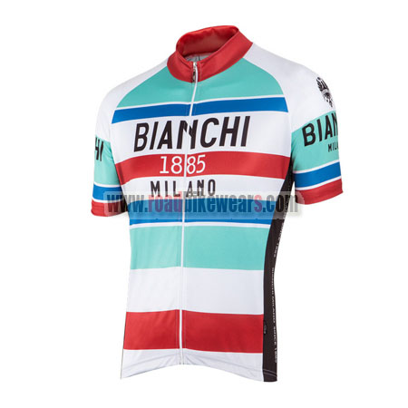 a91319bf2 2016 Team BIANCHI 1885 MILANO Cycling Jersey Maillot Shirt Blue White Red