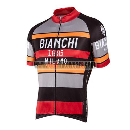 2016 Team BIANCHI 1885 MILANO Cycling Jersey Maillot Shirt Grey Black Red