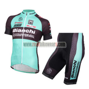 2016 Team BIANCHI Cycle Kit Blue Black