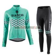 2016 Team BIANCHI Women Lady Cycling Long Suit Green
