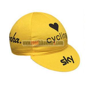 2016 Team SKY Bicycle Cap Hat Yellow