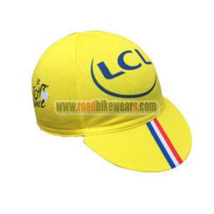 2016 Team Tour de France LCL Biking Cap Hat Yellow