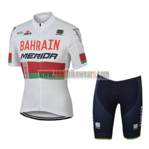 2017 Team BAHRAIN MERIDA Cycle Kit White