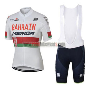 2017 Team BAHRAIN MERIDA Cycling Bib Kit White