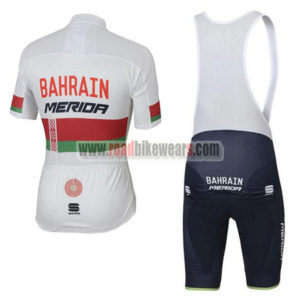 2017 Team BAHRAIN MERIDA Riding Bib Kit White
