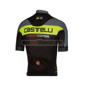 2017 Team Castelli Biking Jersey Maillot Shirt Grey Yellow Black