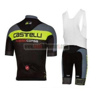 2017 Team Castelli Riding Bib Kit Grey Yellow Black