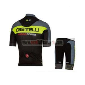 2017 Team Castelli Riding Kit Grey Yellow Black