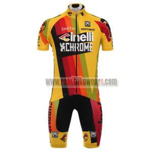 2017 Team Cinelli CHROME Biking Kit Yellow Red