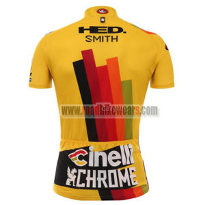 2017 Team Cinelli CHROME Riding Jersey Maillot Shirt Yellow Red
