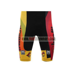 2017 Team Cinelli CHROME Riding Shorts Bottoms Black Yellow Red