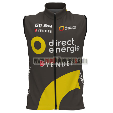 2017 team direct energie vendee bike riding gear cycle vest sleeveless waistcoat gilet rain. Black Bedroom Furniture Sets. Home Design Ideas