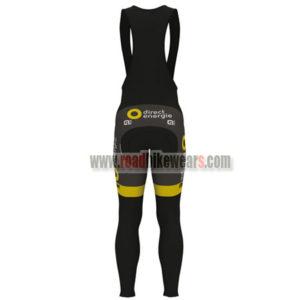 2017 Team Direct Energie VENDEE Riding Long Bib Pants Tights Black Yellow