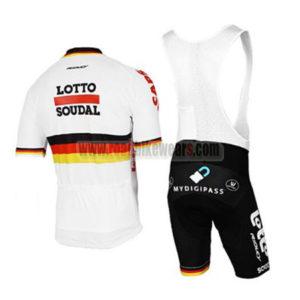 2017 Team LOTTO SOUDAL Germany Riding Bib Kit White