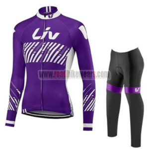 2017 Team Liv Womens Lady Biking Long Suit Purple