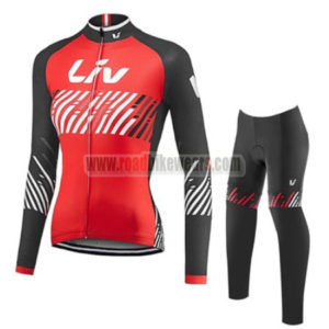 2017 Team Liv Womens Lady Riding Long Suit Red Black