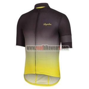 2017 Team Rapha Biking Jersey Black Yellow